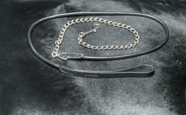 Kaunertal lead rope - leren hengstenketting