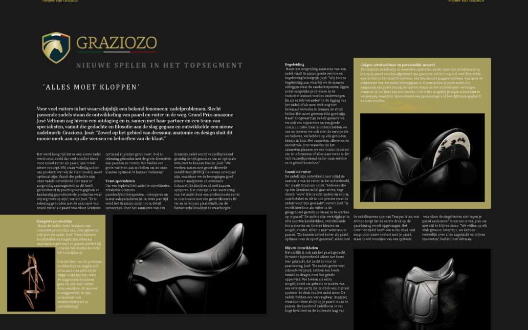 Graziozo in 'Dressuur Magazine' september 2017